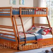 Аскания - двухъярусная деревянная кровать трансформер, семейного типа