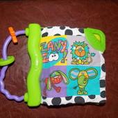 Мягкая , первая книжка, прорезыватель Playgro