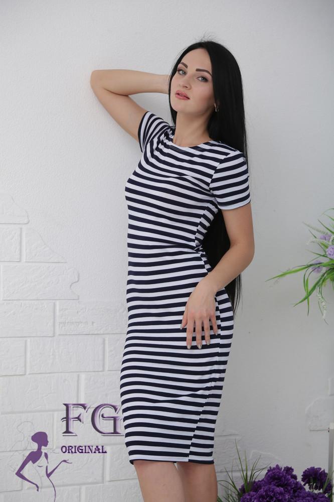 Платье тельняшка фото №1