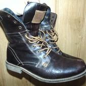 Стильние кожание фирменние брендовие сапоги сапожки ботинки Crafted.43
