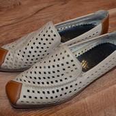 Супер легкие, кожаные летние туфли Rieker antistress 36 р.,23.5 см