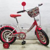 Велосипед двухколесный Автоледі 14 T-21422 white + crimson