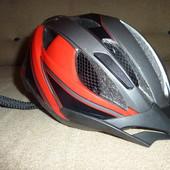 Фирменный вело шлем Crivit, 49-54см, сзади есть лампочка с 3мя режимами