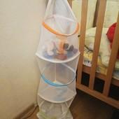 Подвесная сетка корзина для игрушек