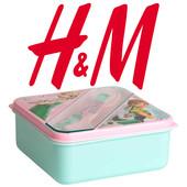 Ланчбокс з столовими приборами для дівчат Frozen фірми H&M Швеція
