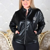 Размеры 48-54 Стильная женская куртка двух цветов