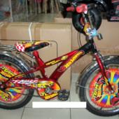 Двухколесный велосипед Mustang Hotwheels 16-дюймов, красный