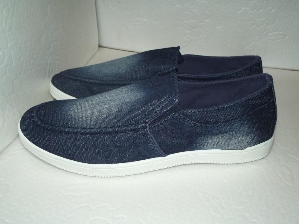 Новые джинсовые слипоны, р. 42 фото №1