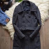 Шикарное пальто под пояс Naf-Naf,р-р ХС-С