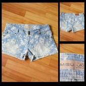 Фирменные джинсовые шорты Amisu, размер 40