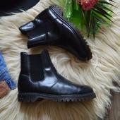 Кожаные мужские ботинки-челси на широкую ногу,р-р 42
