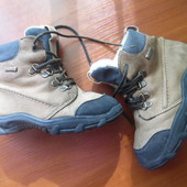 Кожаные ботинки на овчине 25-26р стелька - 16см