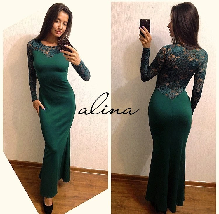 4f0147f8ff7ab2a Шикарное длинное платье размер с-м ткань франц.трикотаж+ дорогой гипюр  красное,