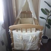 Кроватка+защита+матрац+постель
