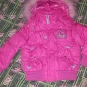 Стильная теплая на синтепоне деми куртка Yaldiz kids 110-122