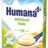 Молочная и безмолочная каша Humana в ассортименте