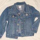 куртка пиджак джинсовый на 3-4 года