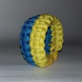 Желто-голубой браслет патриота из паракорда
