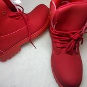 Демисезонные ботинки под Тимберленды, 26 см. по стельке