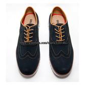 Летние мужские туфли-броги, нат.замша, р.41 – 27 см