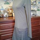 Oggi стильное платье с юбкой в клеточку 44-46-48р