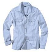 Стильная джинсовая рубашка р. 42 евро М от Esmara, Германия. Есть нюанс