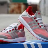 Кроссовки  Adidas Bounce сірі з червоним
