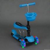 Самокат беговел Бест Скутер 4109 Best Scooter детский с наклоном руля 2 в 1