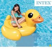 """Надувной плот Intex 57556 """"Желтая уточка"""": 147х147х81см"""