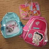 Рюкзак 2шт папка для труда, сумка для сменки