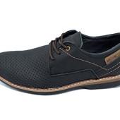 Мужские мокасины с перфорацией Multi Shoes M4 черные