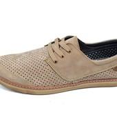 Мужские Мокасины с перфорацией Multi Shoes Ra2 бежевые