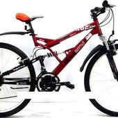 Горный подростковый велосипед 24 дюйма Azimut Rock 126-FR красный