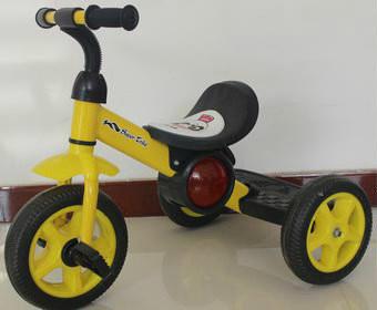 Трехколесный детский велосипед 1713 желтый фото №1