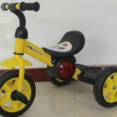 Трехколесный детский велосипед 1713 желтый