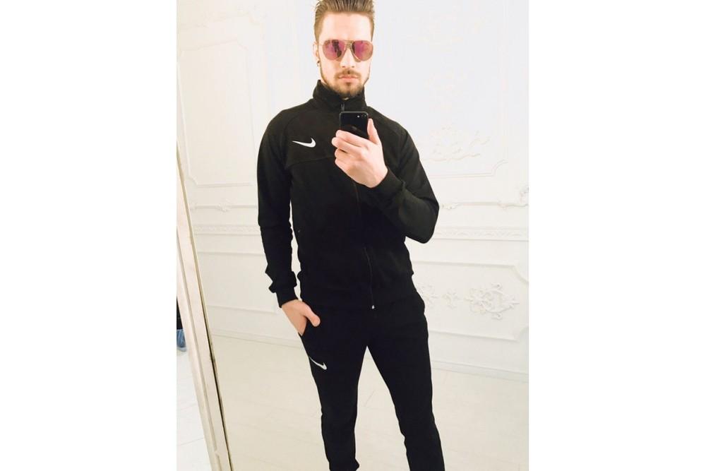 Спортивный костюм  Nike мужской чёрный 46 до 52 (2с фото №1