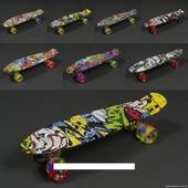 Скейт-Пенни борд абстракция 822, светится колеса