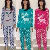 Красивые и теплые женские пижамы - 4 цвета