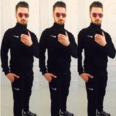 """Спортивный костюм """" Nike"""" мужской чёрный 46~52 (2с"""