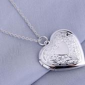 Подвеска с цепочкой покрытие серебро Сердце