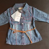 Длинная джинсовая рубашка туника оригинал Zara Kids