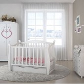 Кроватка детская Angelo Lux-1 маятник/ящик white