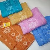 Мягкое и нежное махровое полотенце лицевое (50х90см) код.0071