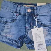отличные джинсовые шортики для девочки колекция 2017г