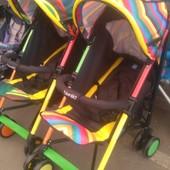 Детская коляска-трость Bambi (M 3410-1) с 5-точечными ремнями безопасности