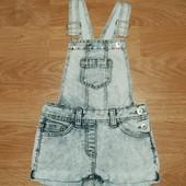 F&F (6-7 лет) стильный джинсовый ромпер, комбинезон для девочки
