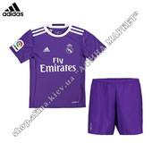 Детская футбольная форма Реал Мадрид 2017 Adidas выездная 1908