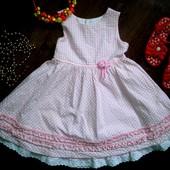 Нарядное платье на 2года(92см)!!!