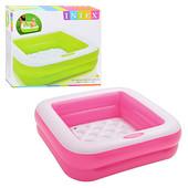 Детский надувной бассейн Intex 57100 85*85*23см, квадратный бассейн для ребенка, бассейн интекс для