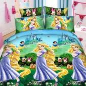 Комплект детского постельного белья  Рапунцель, ранфорс